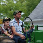 Dad and Lad, Guilford Agricultural Society Tractor Parade, CT