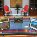 Pictures from Guilford past were on display throughout the celebration area