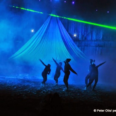 Dance, lights, laser (and sounds) ... Terra Tractus: The Earth Moves, Stony Creek Quarry, Branford, CT