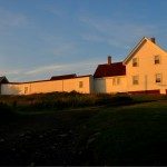 Monhegan- early light on the keeper's house and light, ME