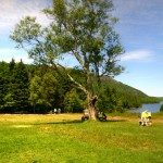 Tranquility at Jordan Pond - after iced coffee and popovers with strawberry preserves!