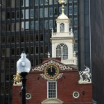 Here's the Old State House and modern neighbors