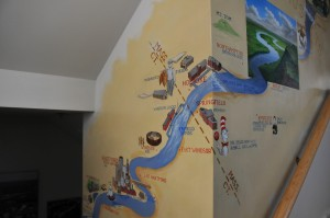 Amazing 3 story mural depicting the CT River from VT/NH to CT