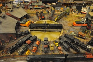 Part of the Annual Train Show 26 foot table layout
