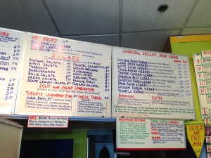 Sultan's Kitchen food offerings- It's hard to narrow down one's choices!