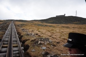 Heading up to the summit of Mt. Washington on The Cog Railway