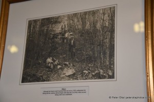 "A ca. 1917 photo of climbers on the Crawford Path - ""oldest footpath in the U.S.) - seen in the lobby of the Mt. Washington Hotel"