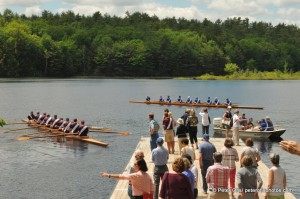 The two classic shells and crews on Turkey Pond