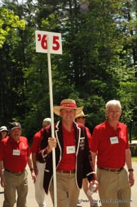 Class of 1965 in the Alumni Parade, heading to lunch