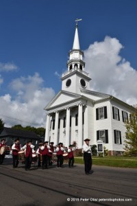 Westbrook Drum Corps- In front of Congregational Church