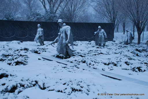 Korean War Memorial - my entire series of shots on this frigid day made me tear up for those who fought there.