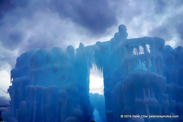 Ice Castle NH before dusk and impending snowfall