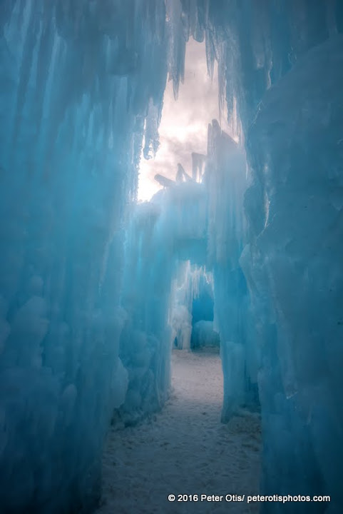 Ice Castle NH - how deep inside and outside can one see?