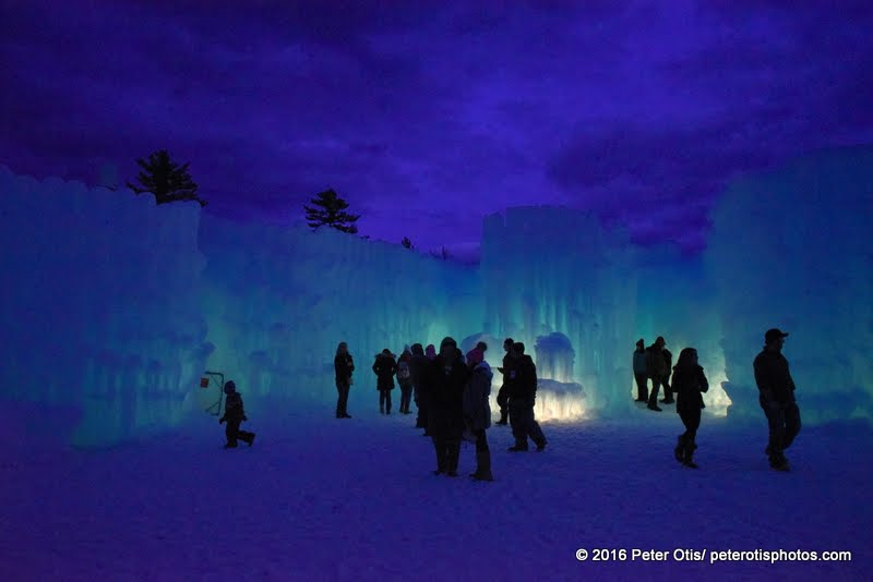 Ice Castle NH - silhouetted sharers of a lovely spot